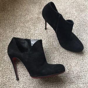 Christian Louboutin suede leather ankle boots